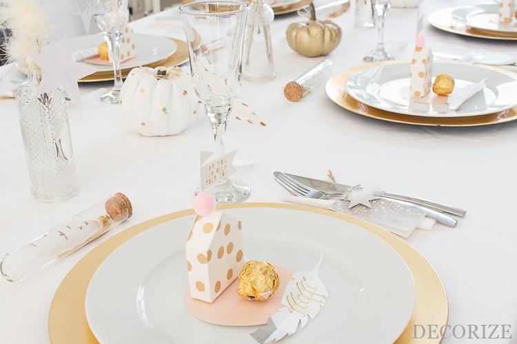 federleichte Tischdeko für Dinner mit Freunden oder Weihnachten