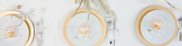 Eine federleichte Tischdeko für die Kreativas
