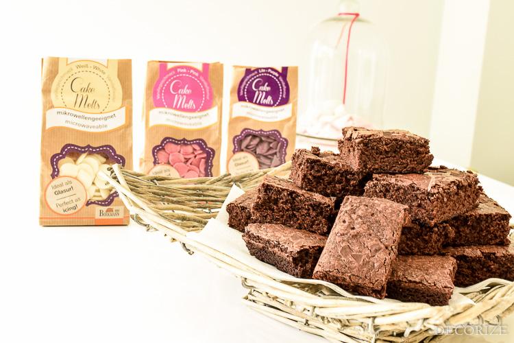 Marmor Brownies - marmorieren mit Schokolade