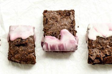 Brownies mit Marmor-Muster - Marmorieren mit Schokolade