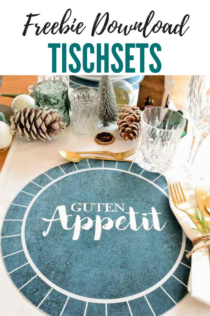 Tischsets für die Weihnachtstafel - Freebie