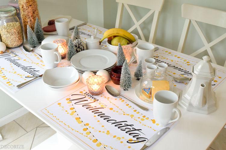 Tischsets für Weihnachten