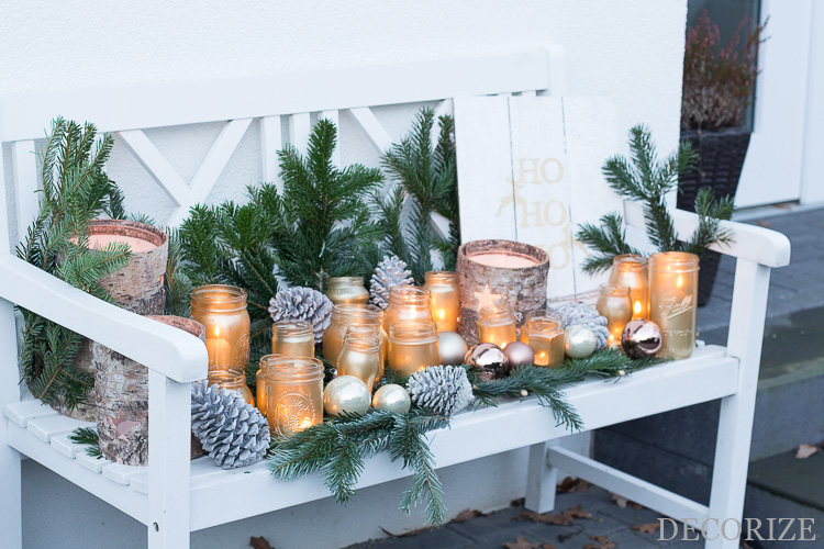 meine diy lichterbank f r die weihnachtszeit. Black Bedroom Furniture Sets. Home Design Ideas
