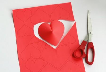 Die 10 schönsten Ideen zum Valentinstag: 3D-Herzen