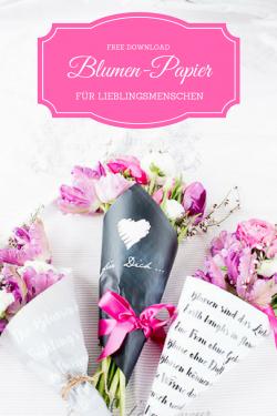 Blumenwrapper für Pinterest
