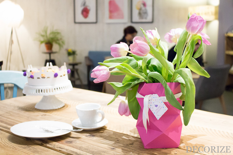 Alter Falter - DIY Origami Vase für Ostern