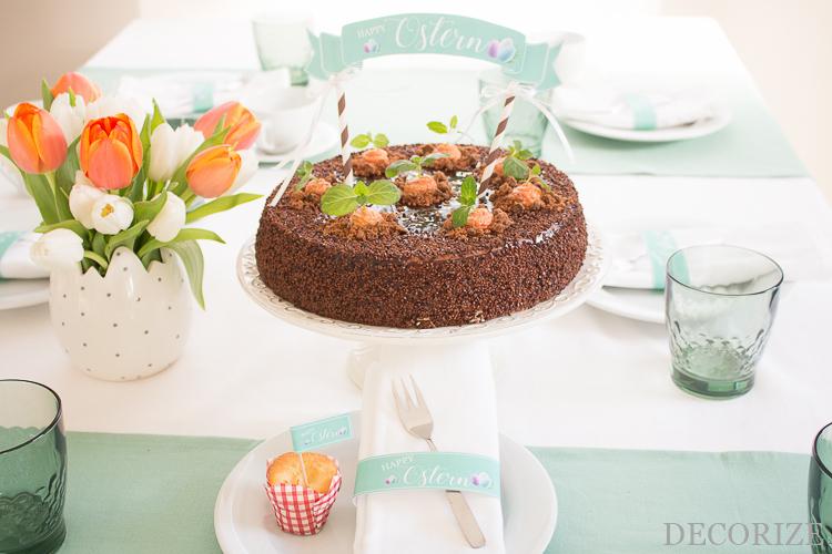 Happy Ostern! Möhren-Mousse-Torte mit Free Printables für die Tischdeko zu Ostern by Decorize