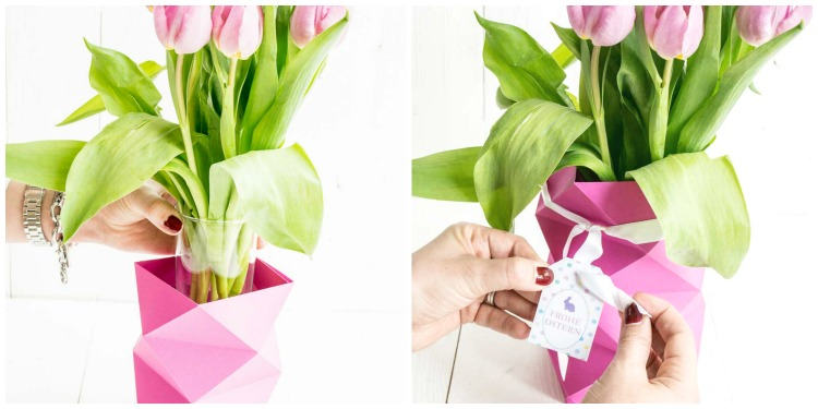 DIY Origami Vase für Ostern mit Tutorial