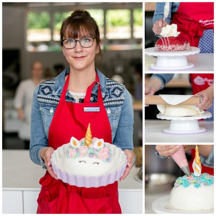 Collage Einhorn Torte Kindergeburtstag Partydeko