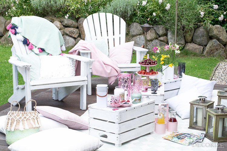 Summer Must-Haves Outdoor Sommer Terrasse-