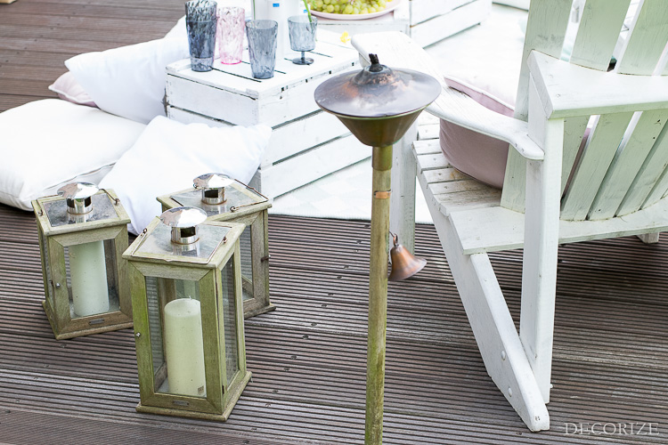 Summer Must-Haves Outdoor Sommer Terrasse Fackeln Laternen