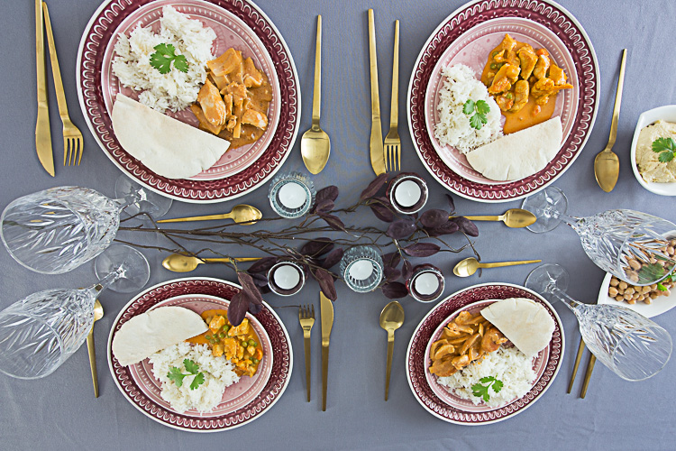 Dinner mit Freunden: Curry Night by Decorize