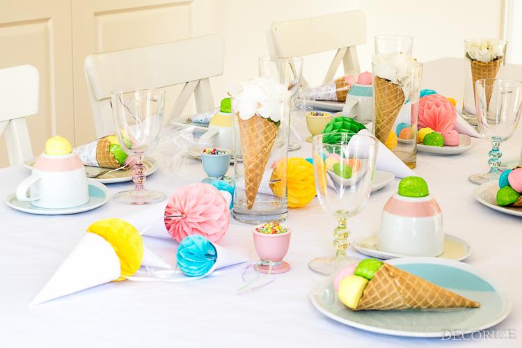 Eiscreme-Party mit Kahla-