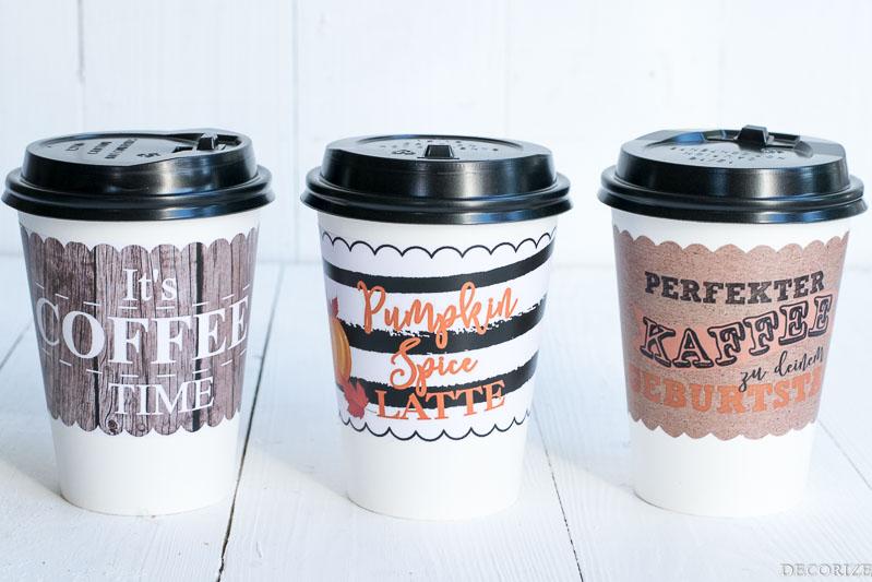 coffee wrapper-Kaffeebanderole-Pumpkin Spice Latte