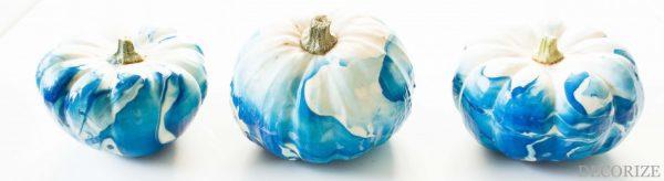 DIY: Marmorierte Kürbisse für die Herbstzeit
