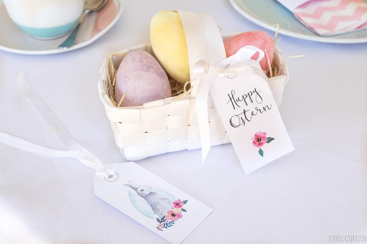 Decorize Ostern Printables Tischdeko