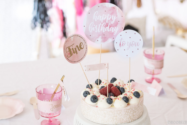 Geburtstag Torte Printable Happy Birthday