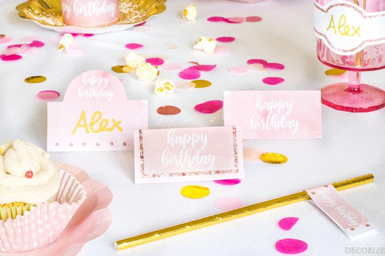 Printable Happy Birthday Roségold-6