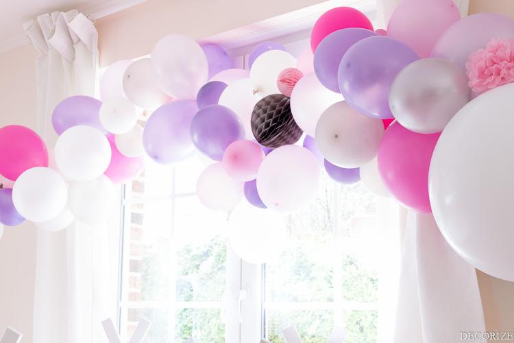 Ballon-Girlande Übernachtungsparty Tipi-14
