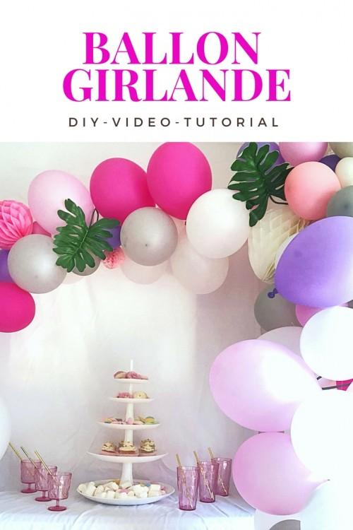 Ballon-Girlande Video