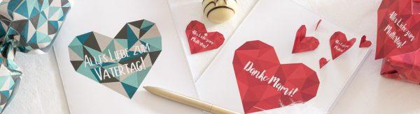 Danke Mami & Papi - Printables zum Muttertag und Vatertag