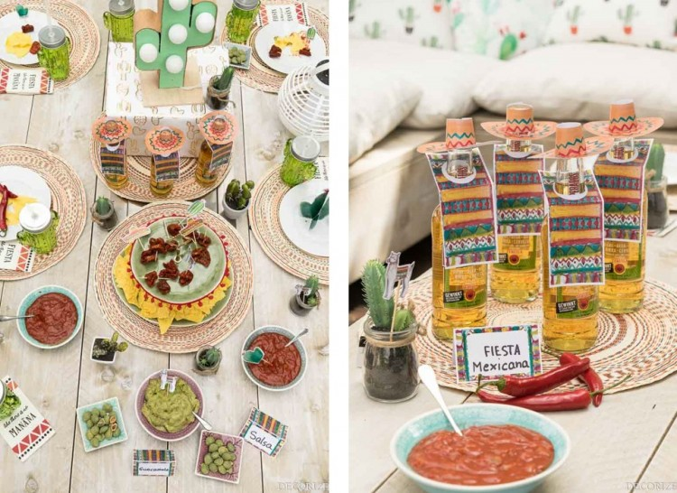 fiesta mexicana printables collage Sommerparty