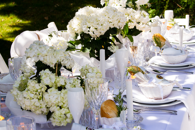 Decorize White Dinner Diner en blanc