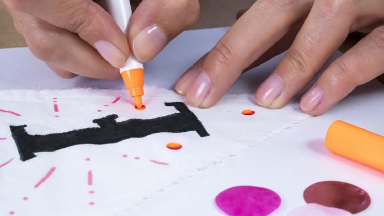 DIY Wimpelgirlande edding Textilmarker