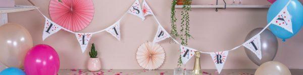 DIY-Wimpelgirlande - Partytime mit edding Textilmarkern