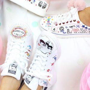 Graffiti & Pailetten – DIY Fashion-Sneakers