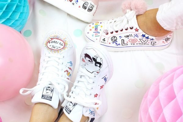 Graffiti & Pailetten - DIY Fashion-Sneakers