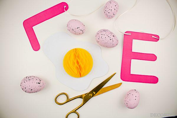 DIY Spiegeleier Girlande zu Ostern