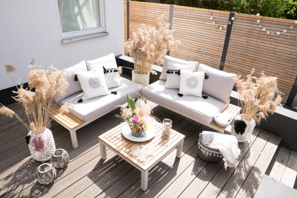 deko trend graser outdoor lounge im boho look