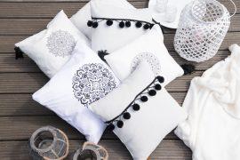 Kissen im Boho-Look: 2 DIY Techniken im Vergleich
