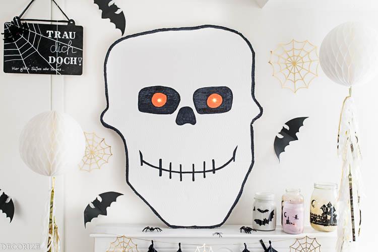 Spooky eyes XXL – DIY Halloween Totenkopf