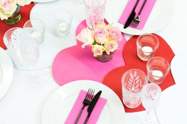 DIY Tischdeko zum Valentinstag