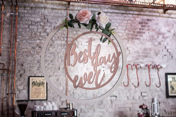 DIY Deko für die Hochzeit - florale Dekoringe - Decorize