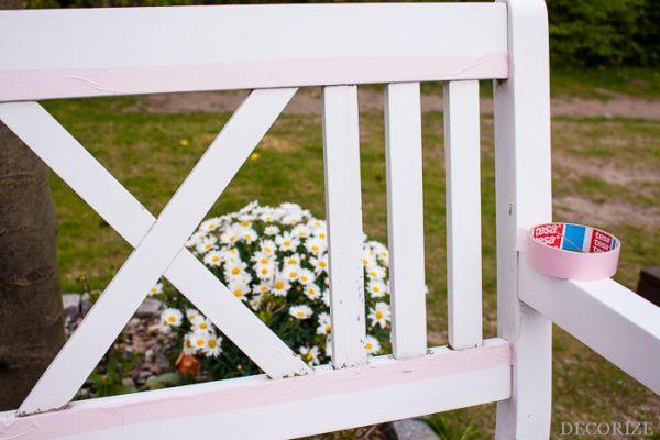 Jetzt wird's bunt - Gartenbank farbig lackieren