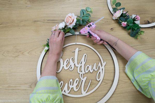 Anleitung DIY Deko für die Hochzeit - florale Dekoringe - Decorize