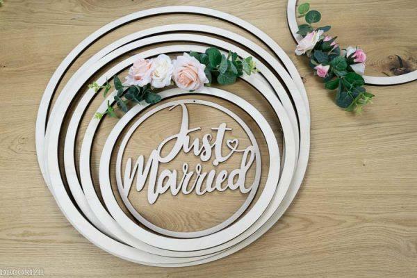 Gewinnspiel DIY Deko für die Hochzeit - florale Dekoringe - Decorize