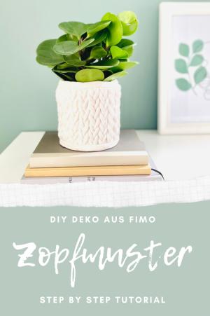 DIY Deko: Vase mit Zopfmuster