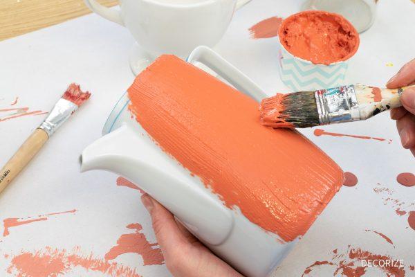 Faux Terrakotta mit DIY Keramikfarbe