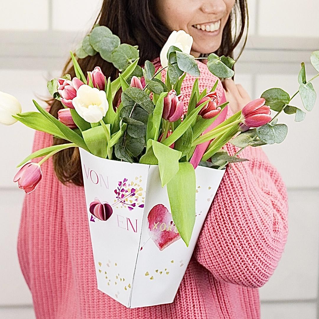 Freebie: Blumenbox zum Valentinstag