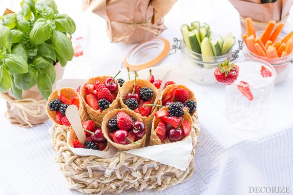 Sommer Picknick by Decorize Frucht Waffeln